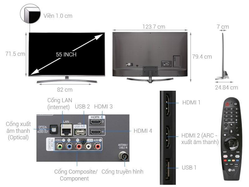 tỏng quan Tivi LG 55UK7500PTA
