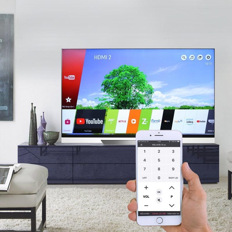 điều khiển tivi bằng điện thoại thông qua ứng dụng LG TV Plus