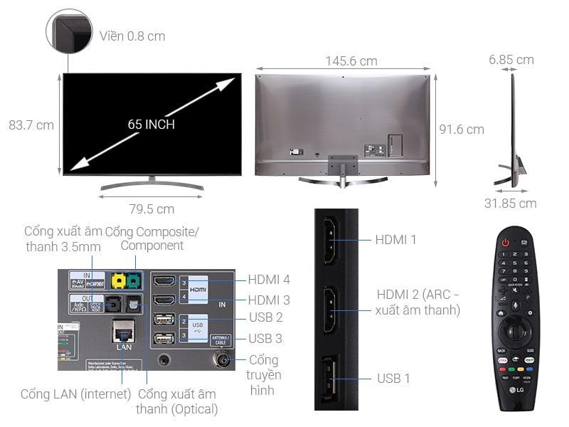 tổng quan Tivi LG 65SK8000PTA