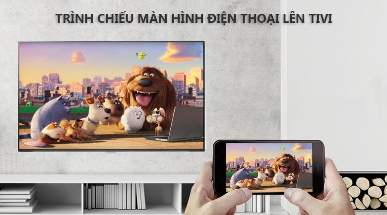 trình chiếu màn hình điện thoại lên tivi