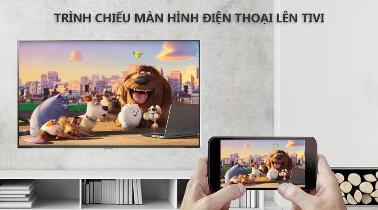 chiều màn hình điện thoại lên tivi thông qua ứng dụng screen mirrong