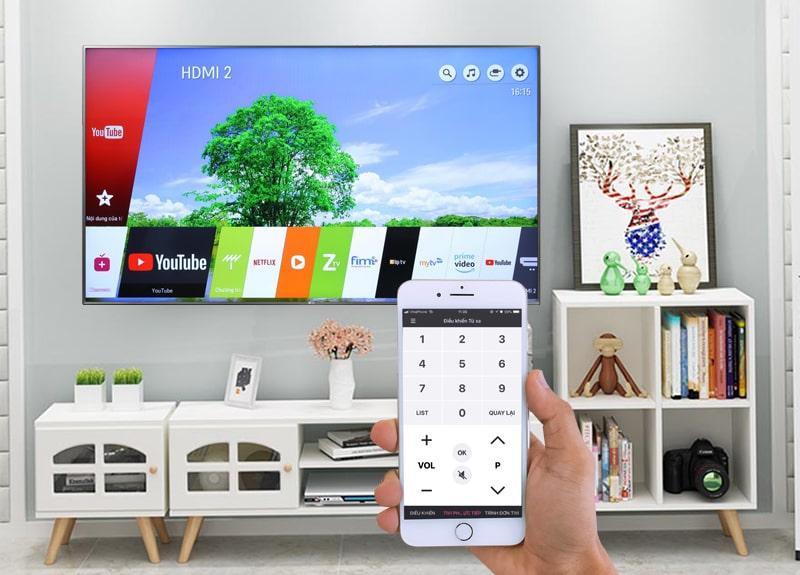 điều khiển tivi qua ứng dụng LG TV Plus