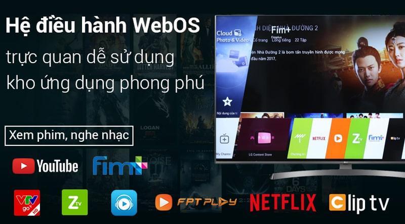 hệ điều hành WebOS trực quan đễ sử dụng với kho ứng dụng phong phú