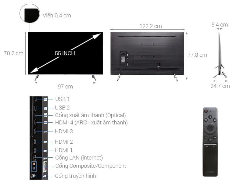 Tivi QLED Samsung QA55Q6FN