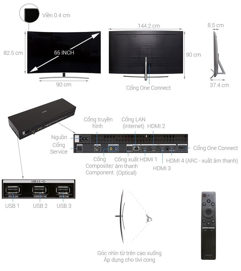 Tivi QLED Samsung QA65Q8CN