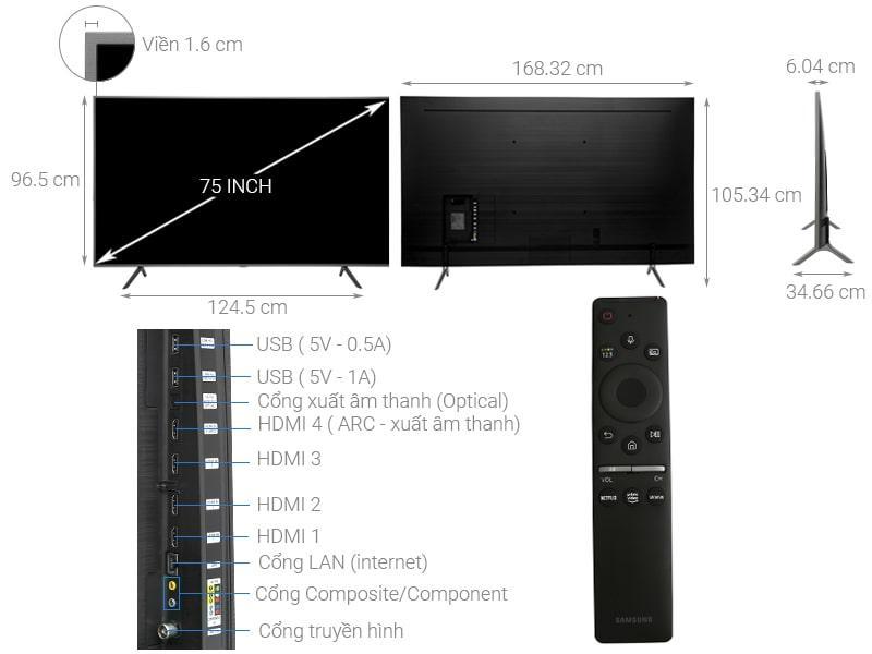 Tivi QLED Samsung QA75Q65R
