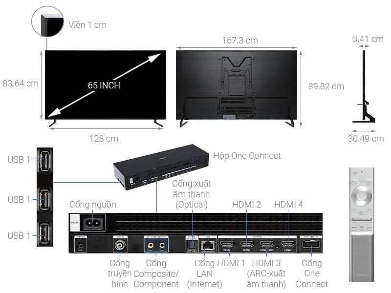 Tivi QLED Samsung 8K QA65Q900R