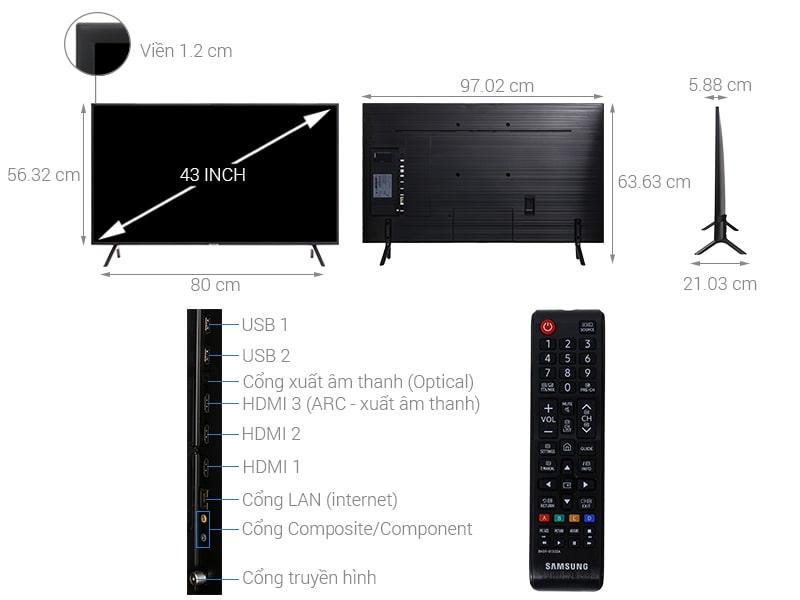 Tivi Samsung UA43NU7100