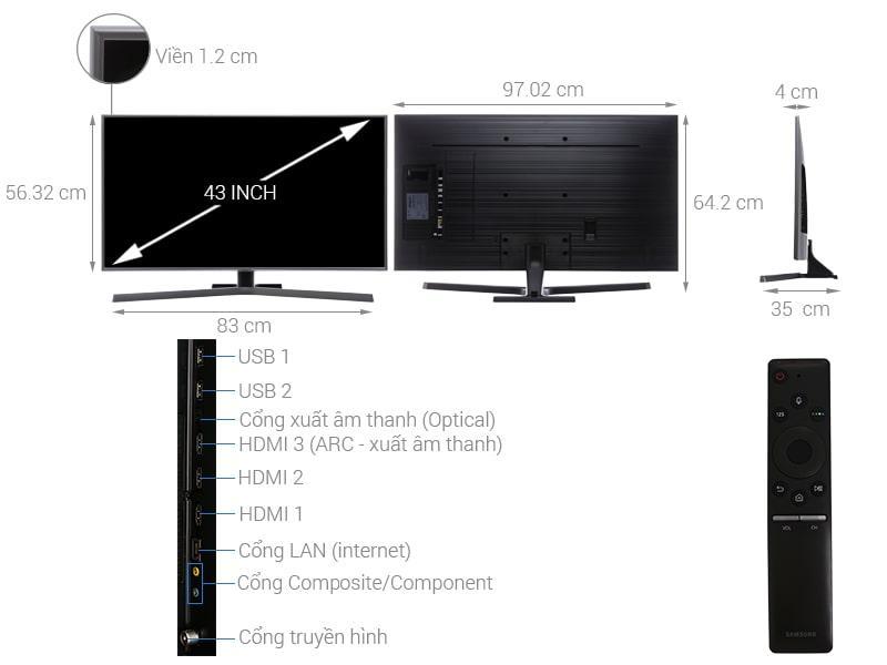 Tivi Samsung UA43NU7400