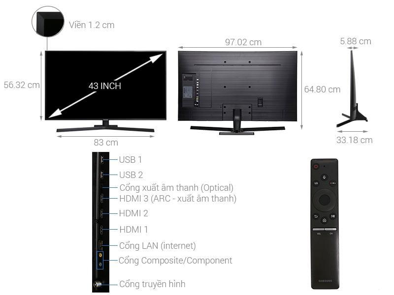 Tivi Samsung UA43NU7800