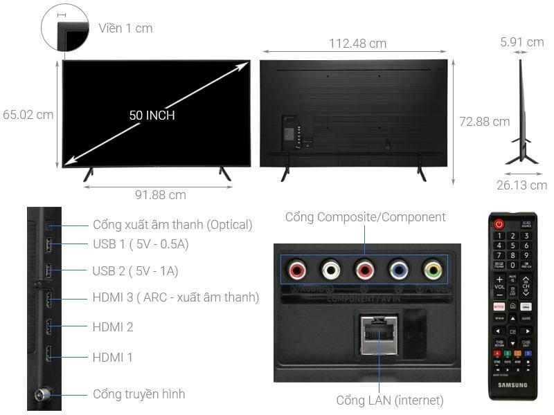 Tivi Samsung UA50RU7100