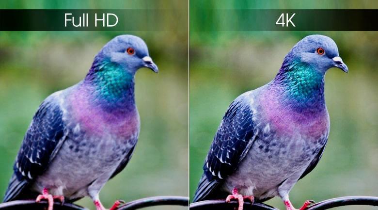 Độ phân giải 4K sắc nét