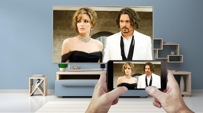 Chiếu điện thoại lên màn hình tivi