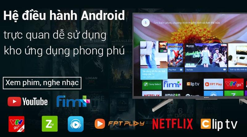 Tivi Sony KD-65X7500F có hệ điều hành dễ sử dụng