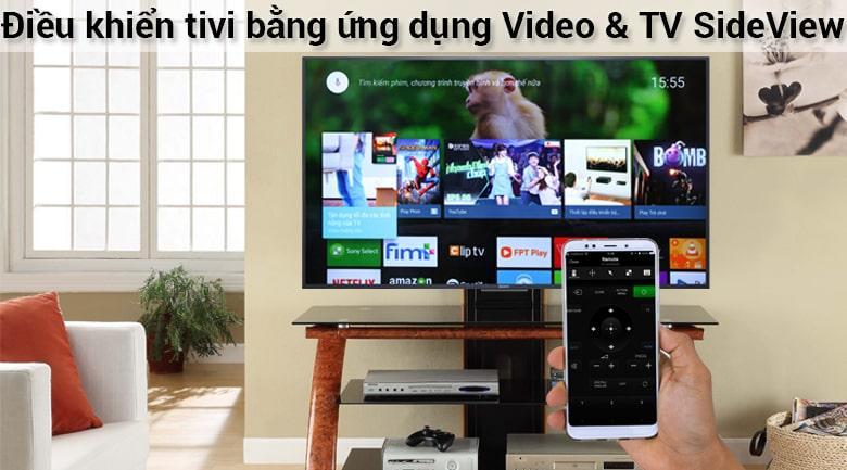 điều kiển tivi bằng ứng dụng video & sideView