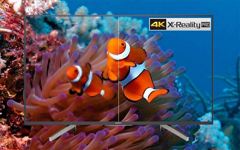 Tivi Sony KD-55X7500F giảm nhiễu