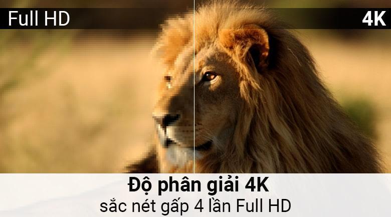 Tivi Sony KD-55X8500G/S sắc nét với độ phân giải 4K