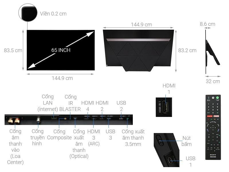 tổng quan Tivi OLED Sony KD-65A9F