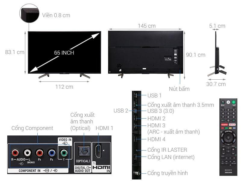 Tổng quan về Tivi Sony KD-65X8500F