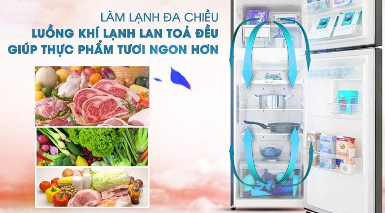 làm lạnh đa chiều,bảo quản thực phẩm tốt hơn