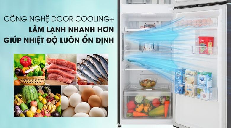 công nghệ DOOR COOLING+ tăng cường hiệu quả làm lạnh