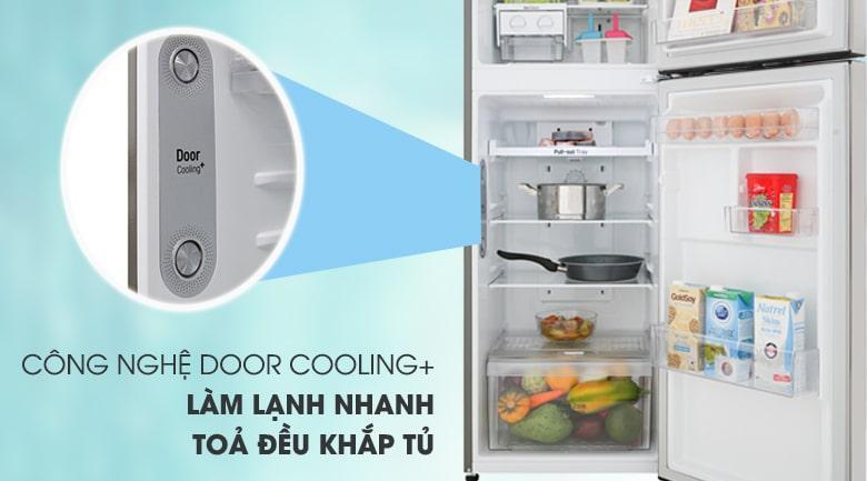 Công nghệ DOOR COOLINHG+ làm lạnh nhanh tỏa đều khắp tủ