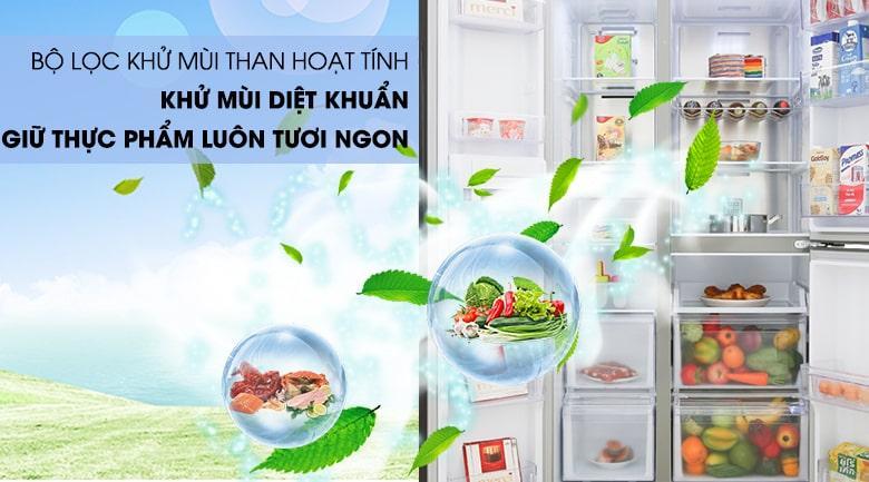 bộ lọc khử mùi than hoạt tính khửu mùi giệt khuẩn giữ thực phẩm luôn tươi ngon