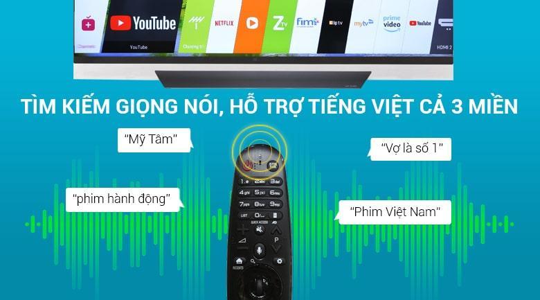 tìm kiếm giọng nói hỗ trợ tiếng Việt 3 miền