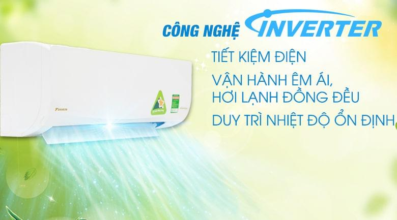 Điều hòa Daikin Inverter 1.5 HP ATKQ35TAVMV