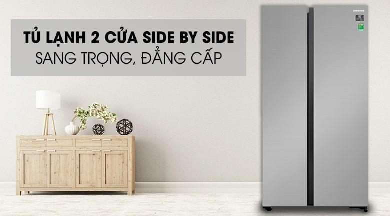 Tủ lạnh Samsung RS62R5001M9/SV 2 cửa side by side sang trọng,đẳng cấp