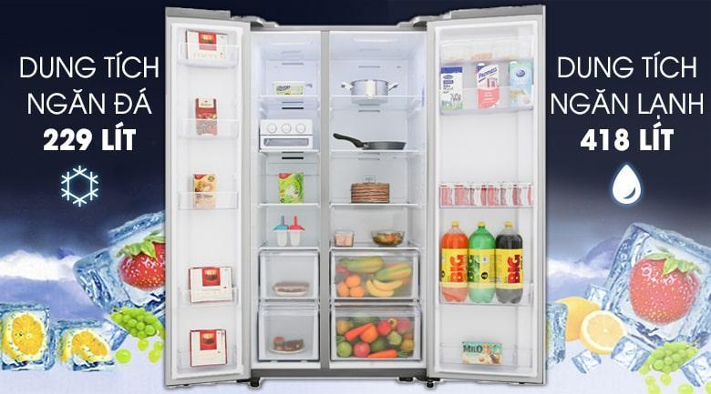 Tủ lạnh Samsung RS62R5001M9/SV dung tích 647l cho nhiều người dùng