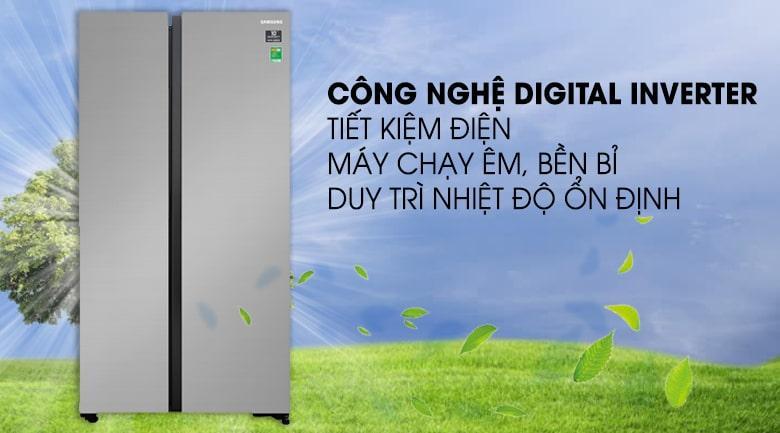 công nghệ Digital inverter trên Tủ lạnh Samsung RS62R5001M9/SV tiết kiệm điện