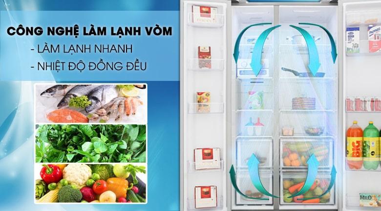 Tủ lạnh Samsung RS62R5001M9/SV mang công nghệ làm lạnh vòm
