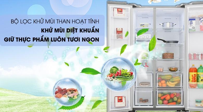 có bộ lọc khử mùi than hoạt tính khử mùi diệt khuẩn giữ thực phẩm luôn tươi ngon