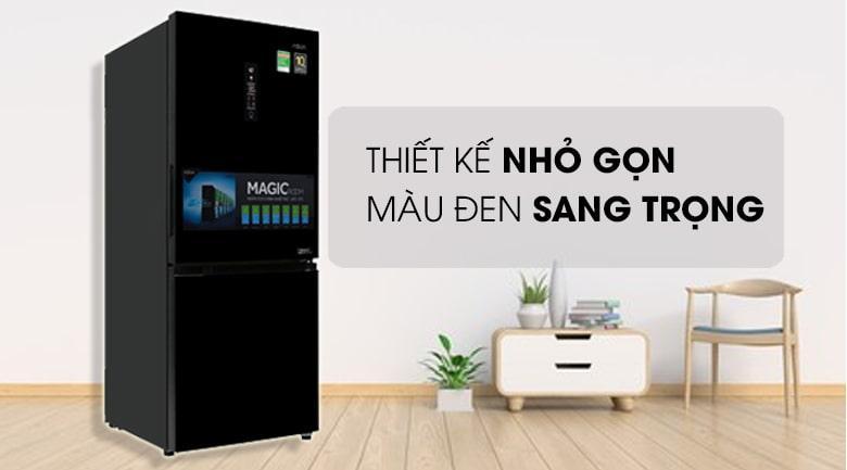 Tủ lạnh Aqua AQR-I298EB BS thiết kế nhỏ gọn,màu đen sang trọng