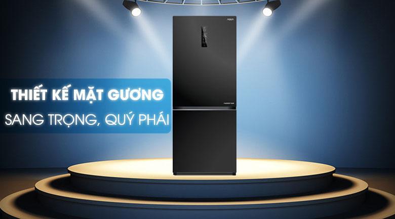 Tủ lạnh Aqua AQR-IG298EB GB mang kiểu dáng quý phái