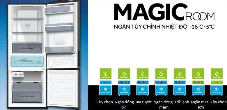 ngăn MAGIC ROOM ngăn tùy chỉnh nhiệt độ -18 đến +5