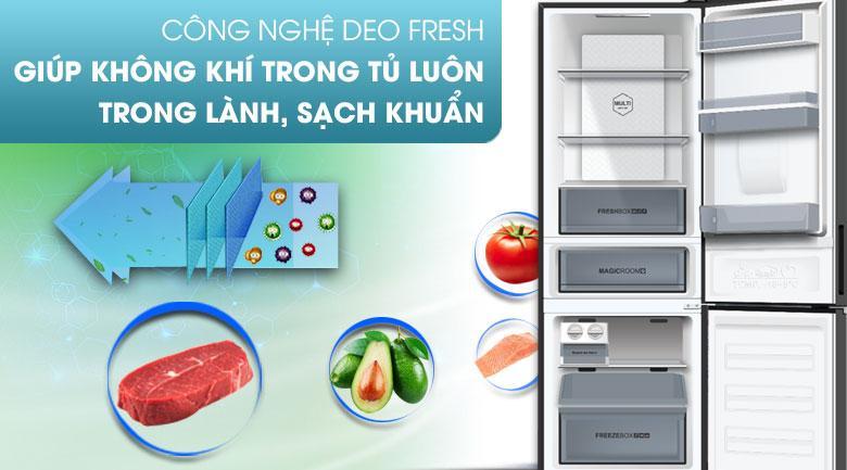 công nghệ DEO FRESH giúp không khí trong tủ luôn trong lành,sạch khuẩn
