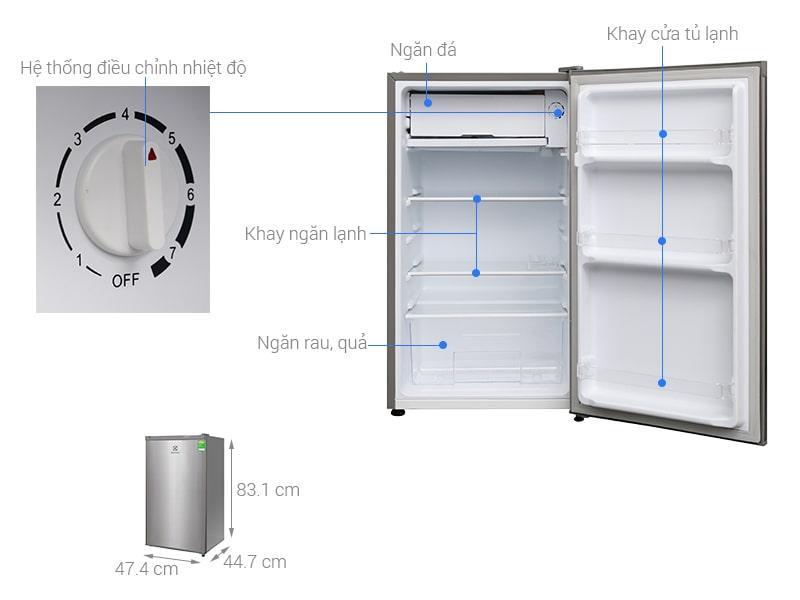 các bộ phận của Tủ lạnh Electrolux EUM0900SA