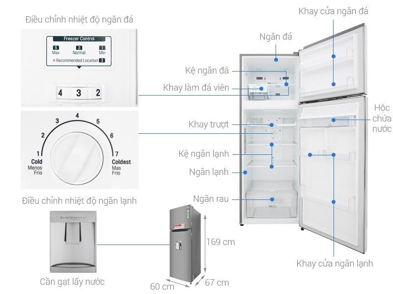 các bộ phận của Tủ lạnh LG GN-D315PS