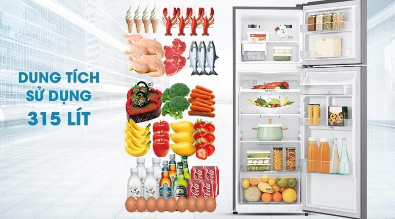 Tủ lạnh LG GN-D315PS dung tích sử dụng 315 lít