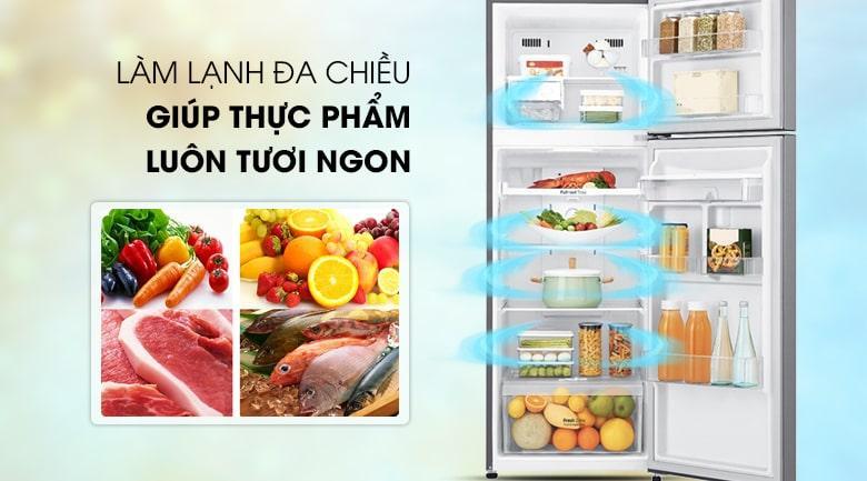làm lạnh đa chiều giúp thực phẩm tươi ngon