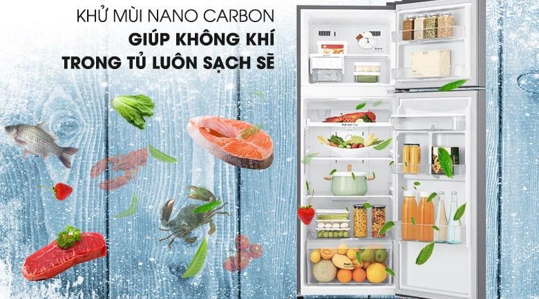 khử mùi NANO CARBON giúp không khí trong tủ luôn sạch sẽ