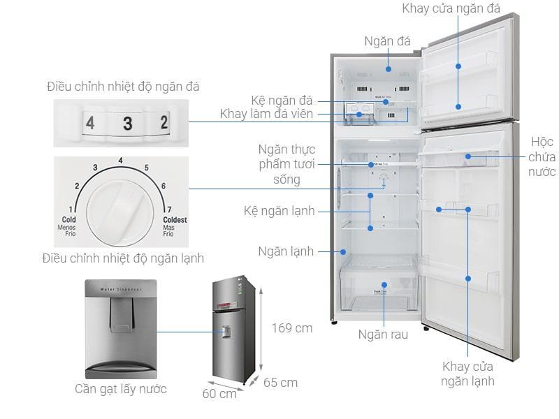 các bộ phận chi tiết Tủ lạnh LG GN-D315S