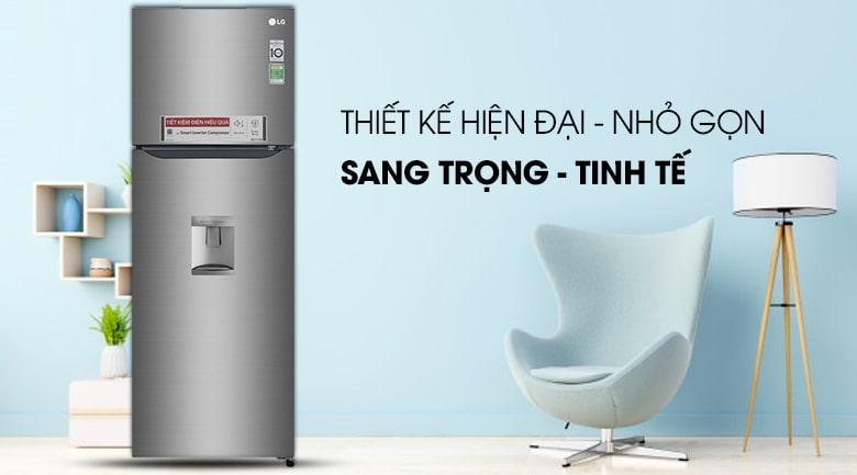 Tủ lạnh LG GN-D315S thiết kế hiện tại-nhỏ gọn,sang trọng-tinh tế