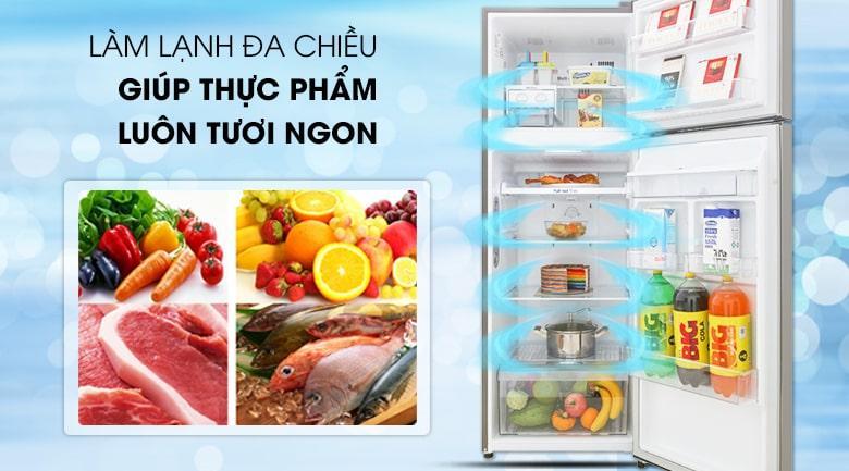 công nghệ làm lạnh đa chiều giúp thực phẩm luôn tươi ngon