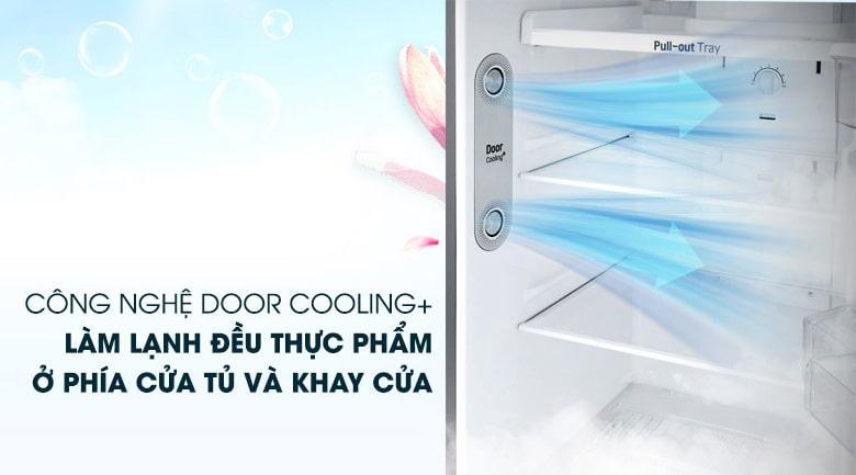 công nghệ DOOR COOLING+ làm lạnh đều thực phẩm