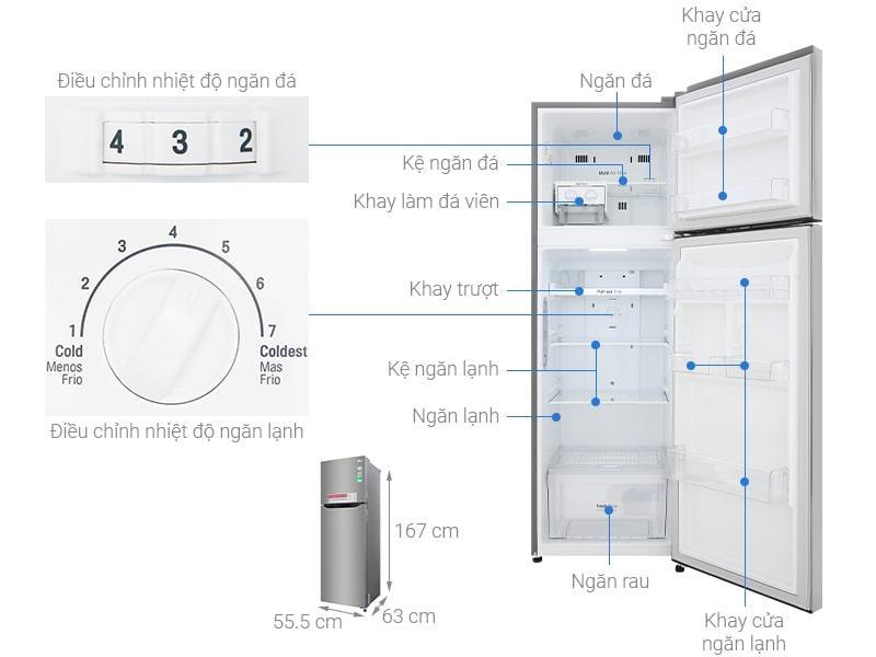Các bộ phận chi tiết Tủ lạnh LG GN-M255PS
