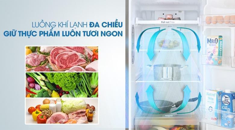 luồng khí lạnh đa chiều giữ thực phẩm luôn tươi ngon