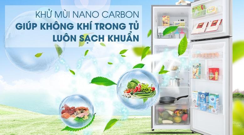 khử mùi NANO CARBON giúp không khí trong tủ luôn sạch khuẩn